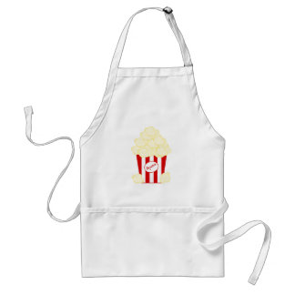 Red Striped Movie Popcorn Standard Apron