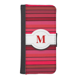 Red striped pattern iPhone 5/5s Wallet Case