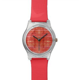 Red Stripes Art Pattern Wrist Watches