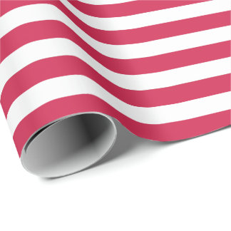 Red Stripes Christmas Wrapping Paper