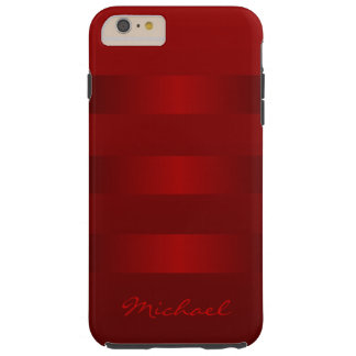 Red Stripes Pattern iPhone 6 Plus Case