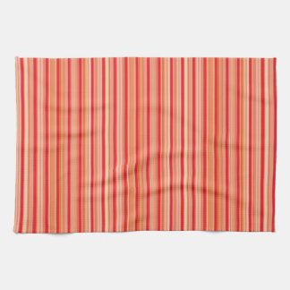 Red stripes pattern hand towels
