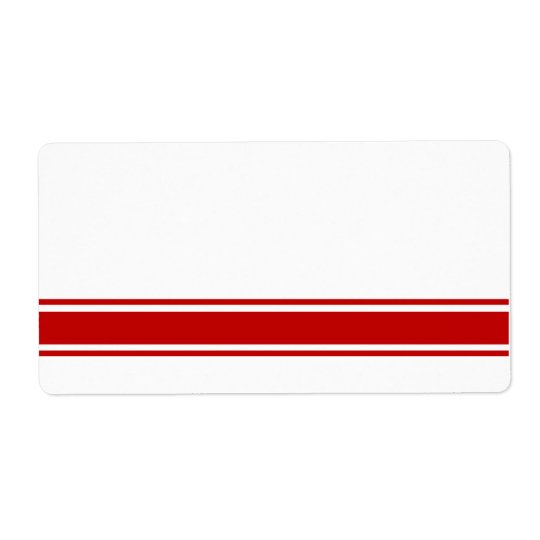 Red Stripes Product Labels