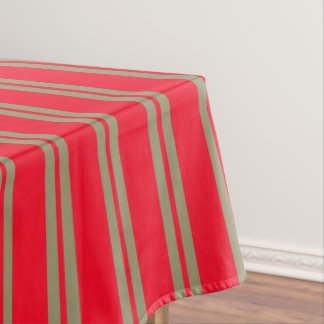 Red Stripes Tablecloth
