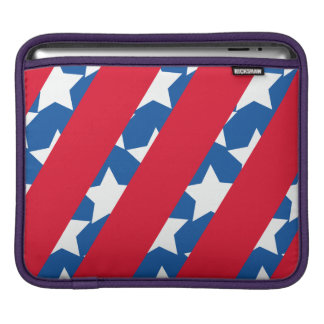 Red Stripes with Blue American Flag Macbook Sleeve