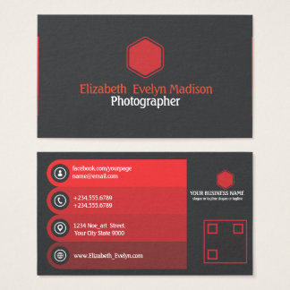 Red Stylish 787 Business Card