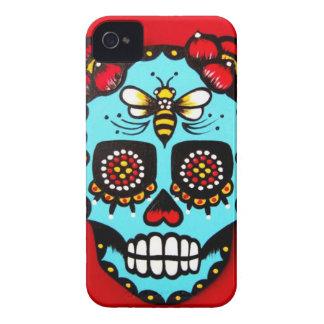 Red Sugar Skull Blackberry Bold Cases