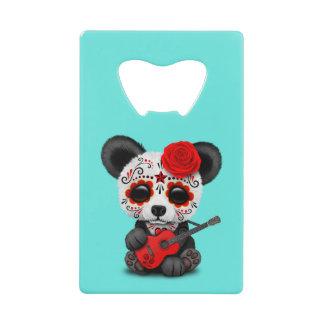 Red Sugar Skull Panda Playing Guitar