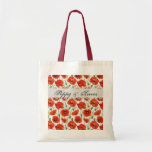 Red Summer Poppy Budget Tote Bag