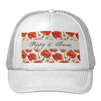 Red Summer Poppy Cap