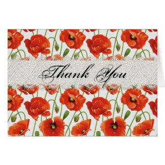 Red Summer Poppy Card