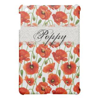 Red Summer Poppy iPad Mini Cover