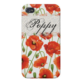 Red Summer Poppy iPhone 4 Cases