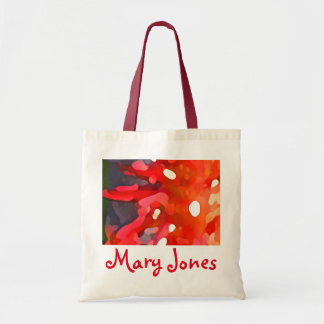 Red Sun Abstract by Amy Vangsgard Budget Tote Bag