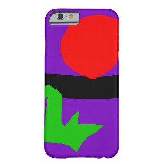 Red Sun Black Horizon Purple Sky Green Lizard Barely There iPhone 6 Case