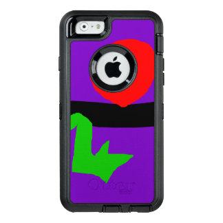 Red Sun Black Horizon Purple Sky Green Lizard OtterBox iPhone 6/6s Case