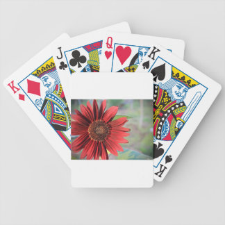 Red Sunflower Bicycle Playing Cards