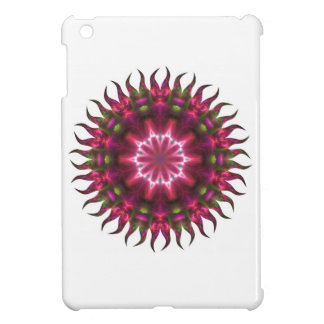 Red Sunflower Fractal iPad Mini Cases