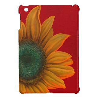 Red sunflower iPad mini cases