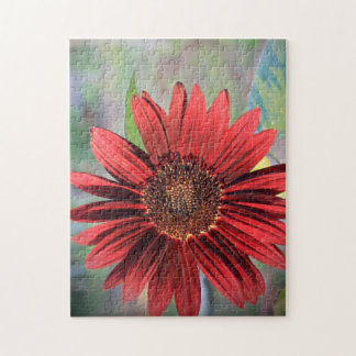 Red Sunflower Jigsaw Puzzle