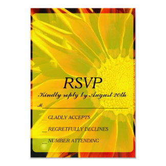 Red Sunflower RSVP Card
