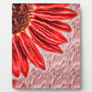 Red Sunflower Sketch Plaque
