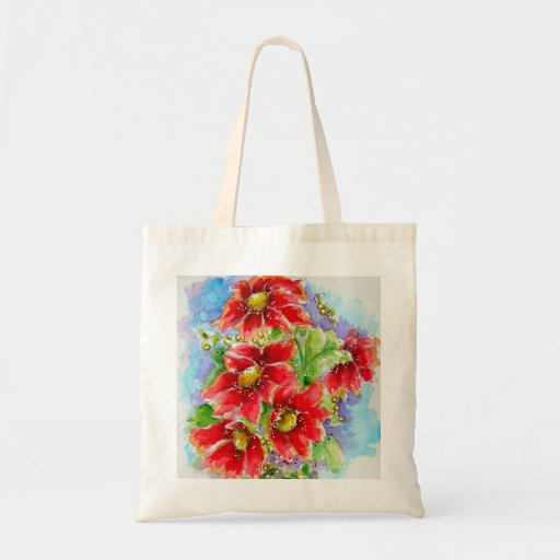 Red Sunflowers Tote Bag