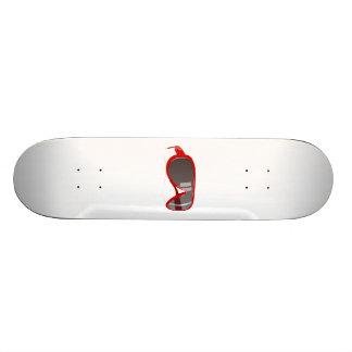 Red Sunglasses Skate Board Deck