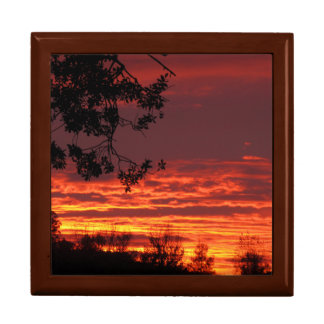 Red Sunset Jewelry Box