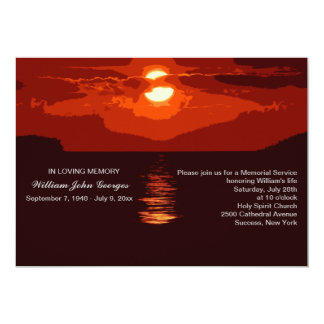 Red Sunset Memorial Service Announcement