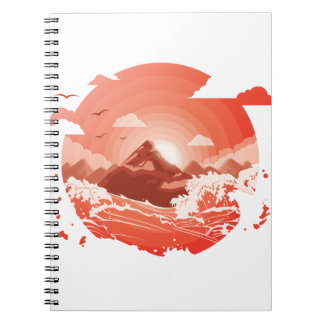 Red sunset notebooks