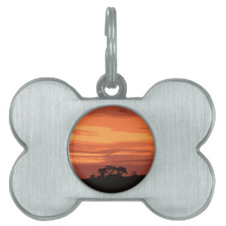 Red Sunset Pet ID Tag