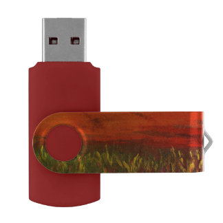 red sunset USB Flash Drive by DAL