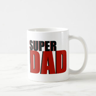 Red Super Dad Coffee Mug