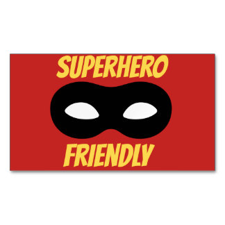 Red Superhero Friendly Magnet