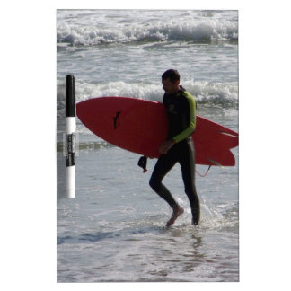 Red Surf Board Dry-Erase Whiteboards