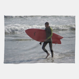 Red Surf Board Towels