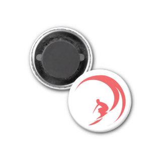 Red Surfer Magnet