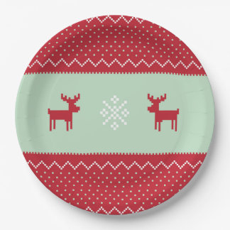 Red Sweater Weather Plate