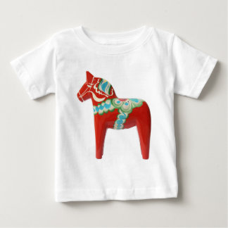 Red Swedish Dala Horse Baby T-Shirt
