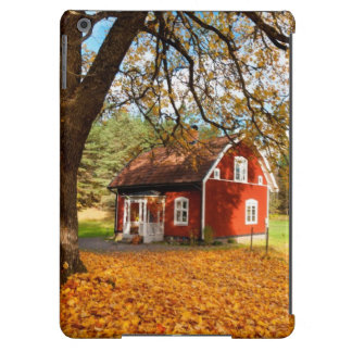 Red Swedish House Amongst Autumn Leaves Case For iPad Air