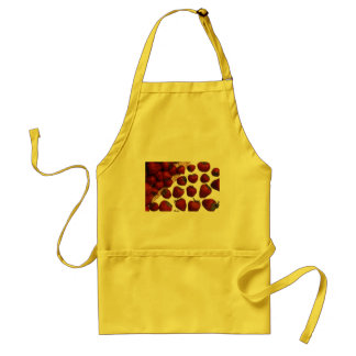 red sweet strawberries aprons