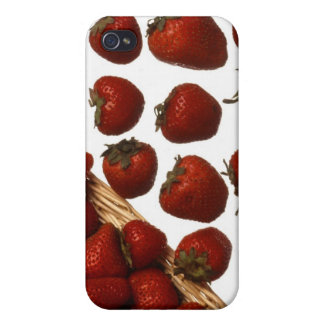 red sweet strawberries iPhone 4/4S cover