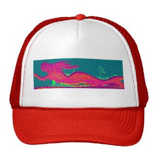 red swimming mermaid hat
