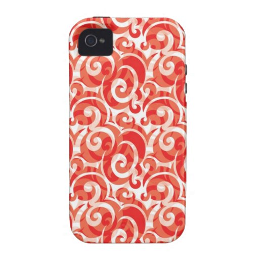 Red Swirl Case-Mate iPhone 4 Cases