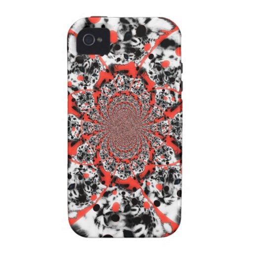 Red Swirl Vibe iPhone 4 Covers