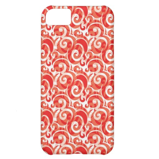 Red Swirl iPhone 5C Cases