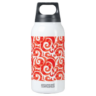 Red Swirl Insulated Water Bottle
