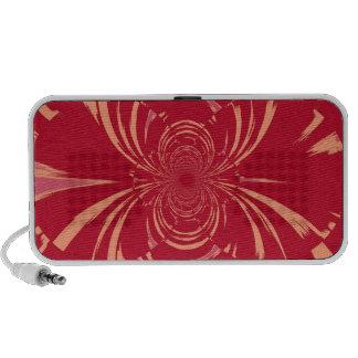 Red Swirl Retro Art Deco Mp3 Speakers