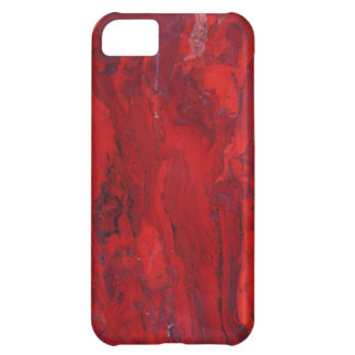 Red swirled marble slab iPhone 5C case